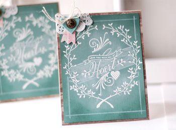 Chalkboard Art Card by Betsy Veldman