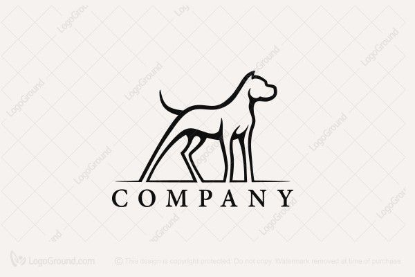 Logo for sale: Dogo Argentino Logo