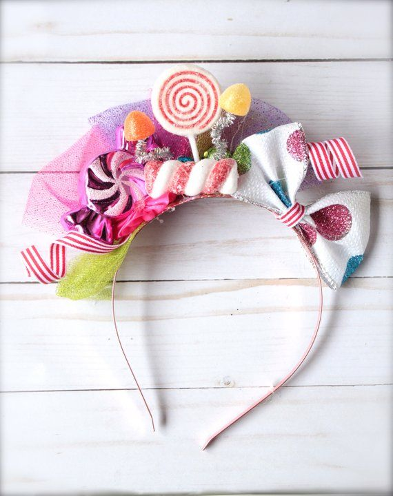 Candyland Inspired Sweet Treats Candy Headband - Perfect Birthday or Candy Party Photo Prop