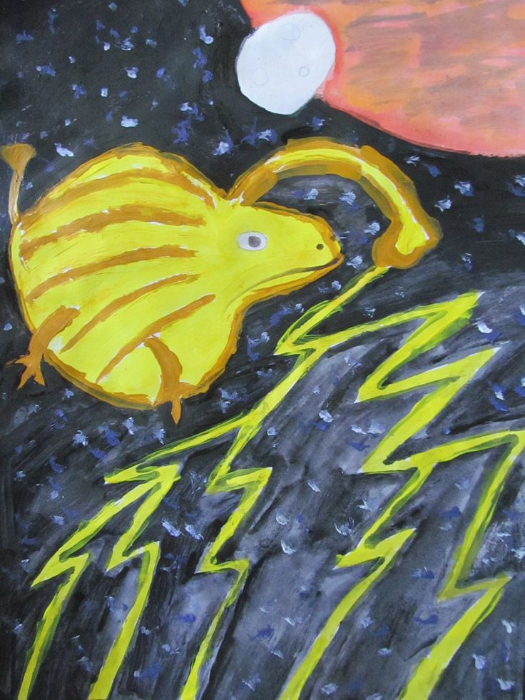 'Lightning creature - Ildirim' by Nightlight, age 12