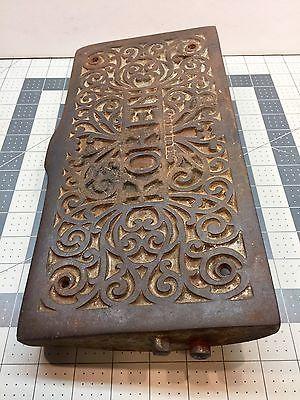 Rare Koken Congress Barber Shop Chair Cast Iron Swivel Footrest Ankle Rest Parts