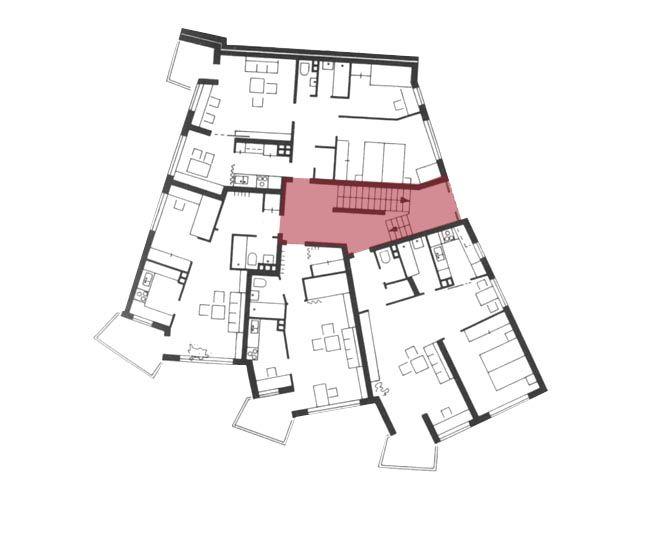 Scharoun Urbanización Charlottenburg-Nord, berlín, Alemania. 1954-59