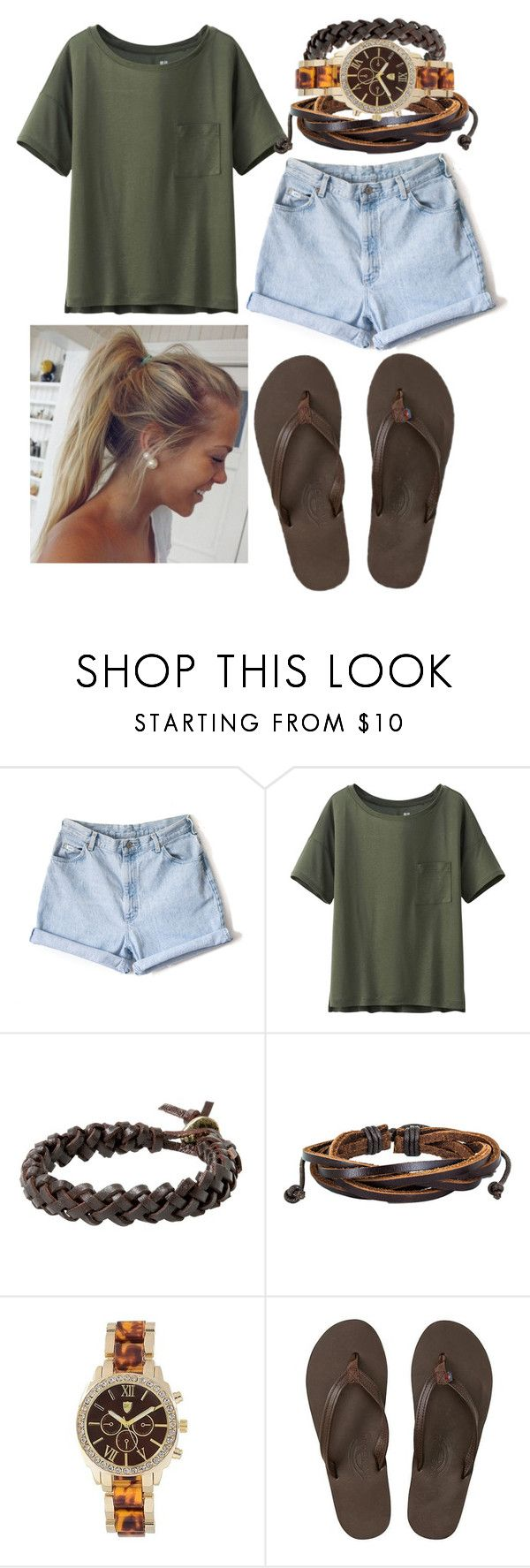 """""""Classy and Chic"""" by lauren-vittorio ❤ liked on Polyvore featuring Uniqlo, MANGO, West Coast Jewelry, Journee Collection and Rainbow Sandals"""