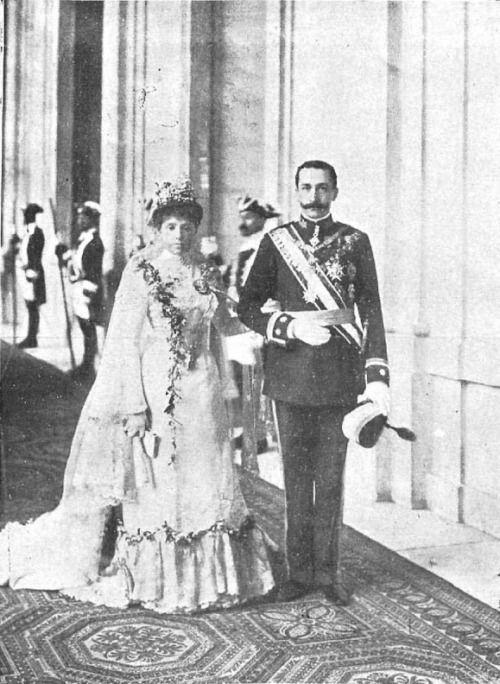 Boda de la infanta María de las Mercedes con D.Carlos de Borbón-Dos Sicilias, conde de Caserta