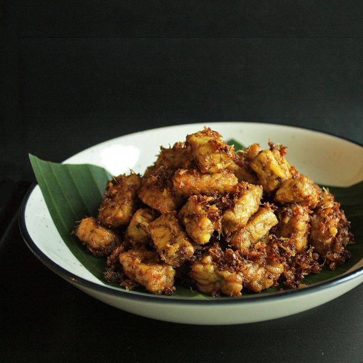 Tempeh Goreng Lengkuas - Fried Tempeh in Galangal Sauce