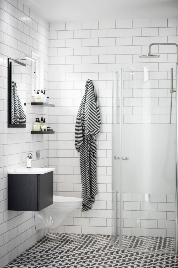"""Vedum Flow"" LOVE the wall tiles and floor tiles. This pic seems more ""realistically"" like our bathroom in terms of size"