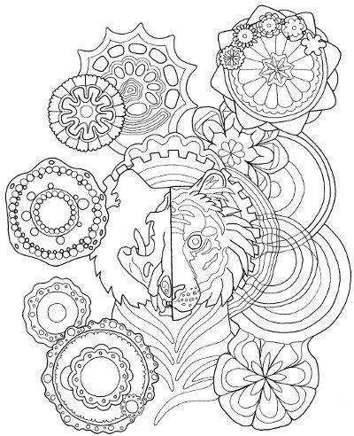 Tiger Mandala Coloring Page for