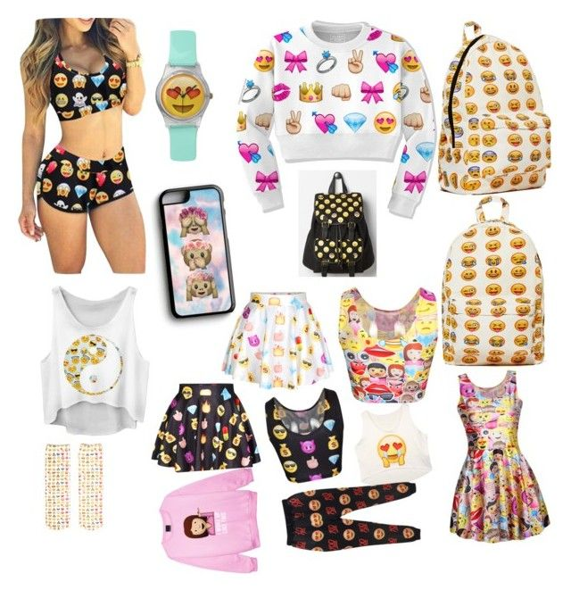 """Top16 emoji clothes"" by ingrid-saeterdalen on Polyvore featuring Samsung and Living Royal"
