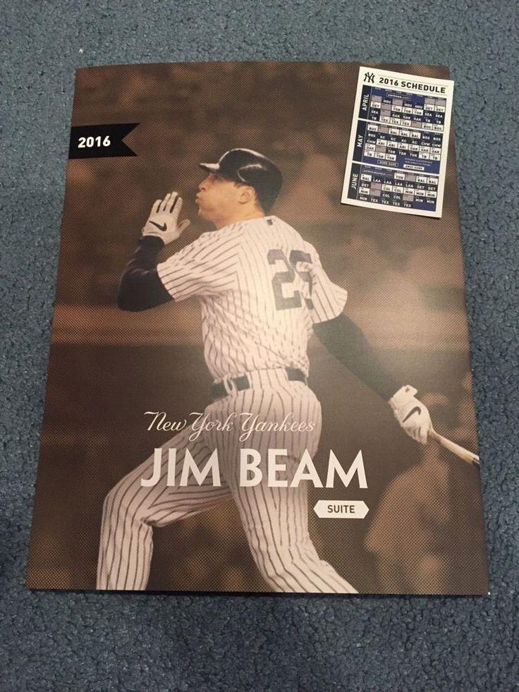 New York Yankees Jim Beam Suite Mark Teixeira Booklet + 2016 Pocket Schedule #NewYorkYankees