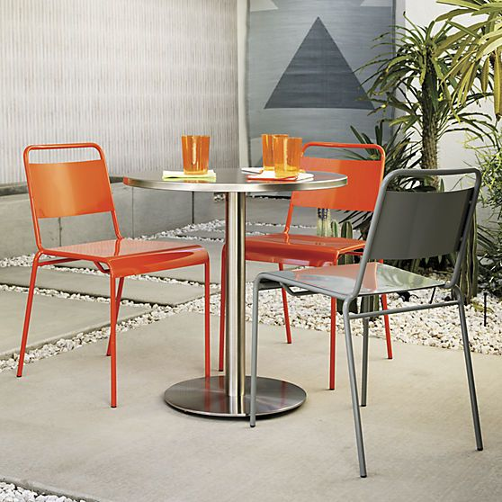 Watermark bistro table modern outdoor furniture small - Bistro sets for small spaces collection ...