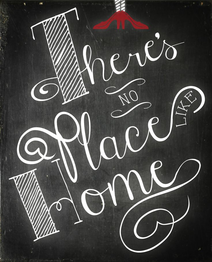 There's no place like home. Wizard of OZ Chalk Art Printable