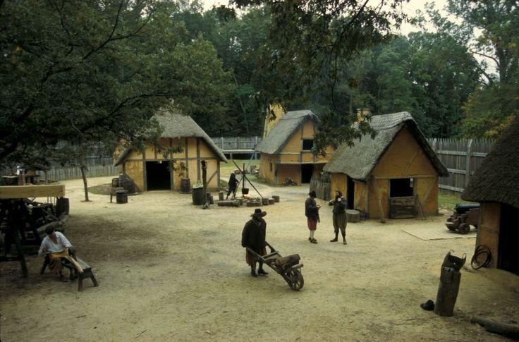 Jamestown housing where not very big