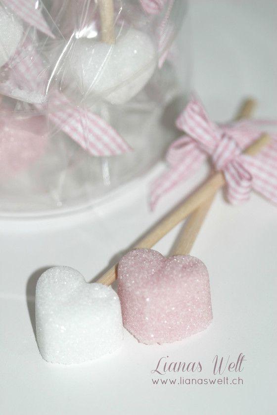 Geschenkidee selbstgemachte Zuckerstäbchen
