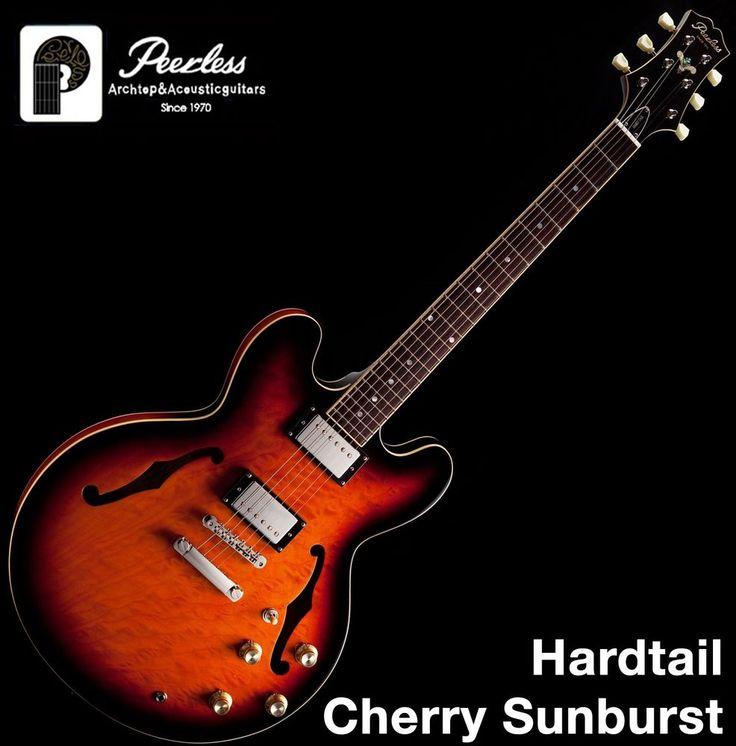 Peerless Hardtail Semi Hollow Body Arch Top Jazz Electric Guitar #Peerless