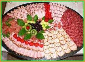 Приготовление и украшение мясной нарезки (пошагово) с фото и видео