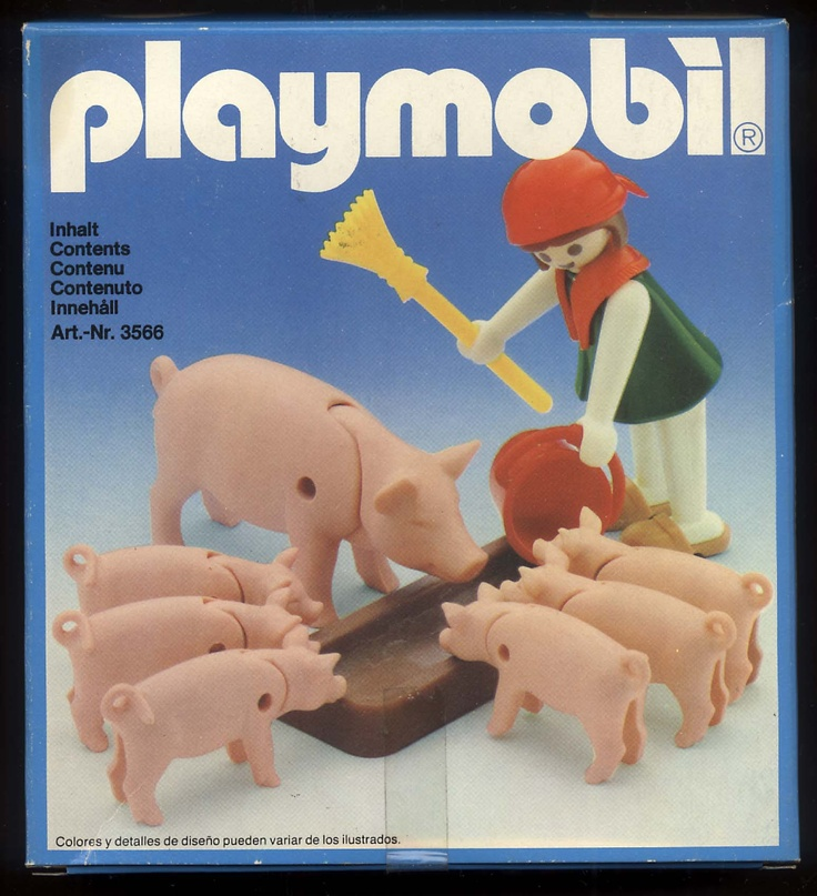 Playmobil 3566 Farm girl & Pigs_Antex Argentina // Not available