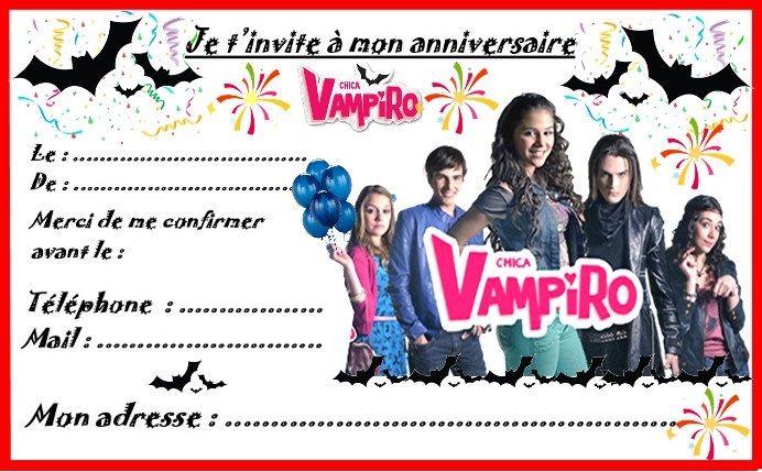 Anniversaire : Etiquettes cadeaux et invitations CHICA VAMPIRO pour les anniversaires des enfants http://nounoudunord.centerblog.net/4274-etiquettes-et-invitations-chica-vampiro-pour-anniversaire