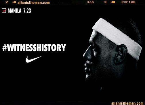 'Free' Lebron James ticket now being sold online for 2k to 10k | http://www.allanistheman.com/