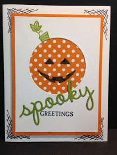 A Sparkly Season, Happy Scenes, Halloween Card, Stampin' Up!, Rubber Stamping, Handmade Card