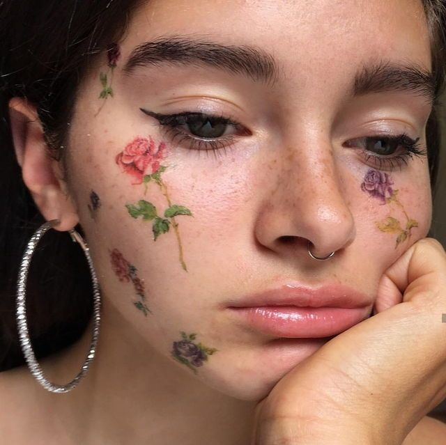 25 best ideas about fake freckles on pinterest freckles for Face tattoo makeup