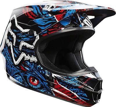 Fox Racing 2014 V1 Creepin Helmet 2014 Motocross Enduro ATV