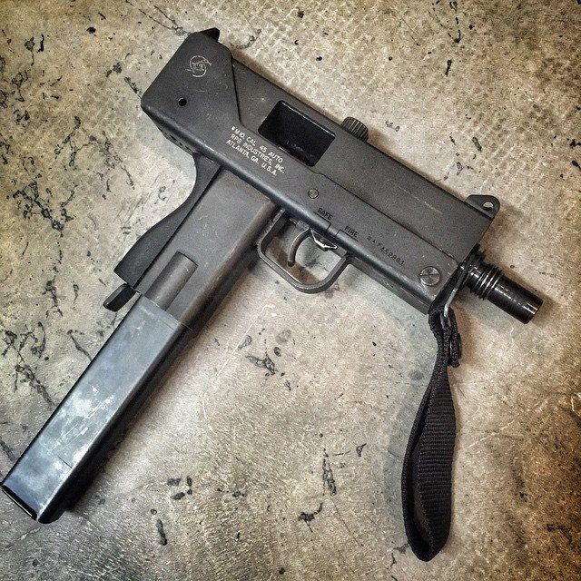 MAC-10. Loading that magazine is a pain! Get your Magazine speedloader today! http://www.amazon.com/shops/raeind