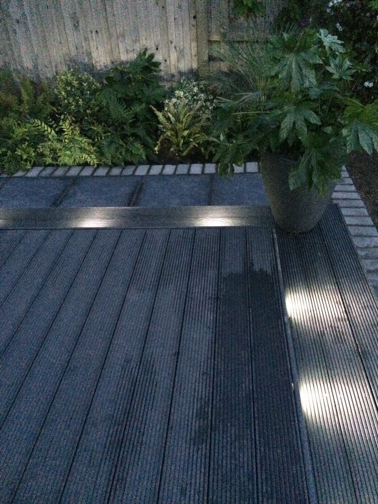 Garden Lighting Decking Composite Paving Dark Grey