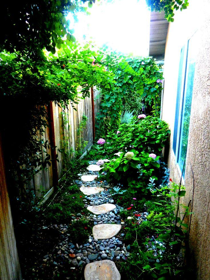 12 best Narrow Side yard images on Pinterest | Gardening ... on Narrow Side Yard Landscaping id=23946