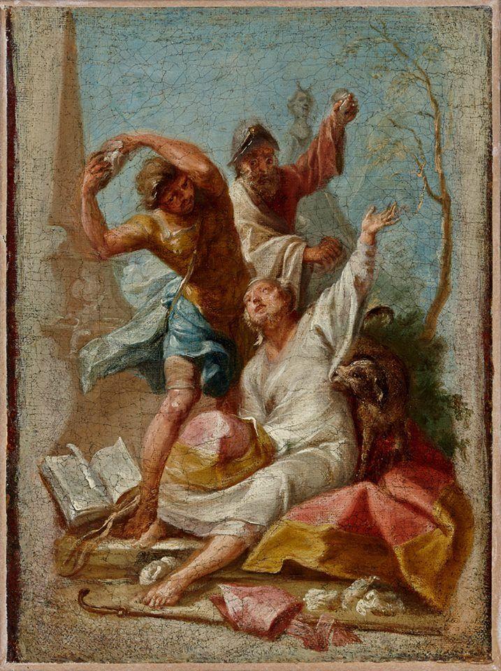 Stoning of Saint Timothy, Bishop of Ephesus (Johann Wolfgang Baumgartner).