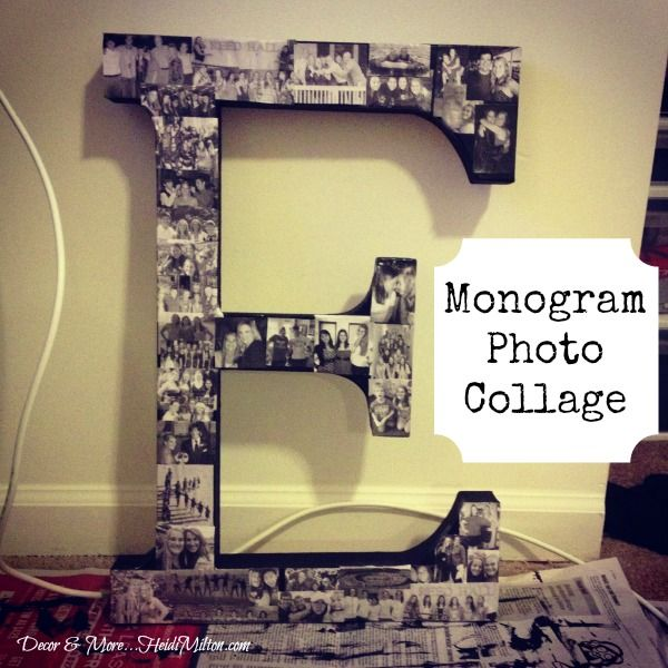 DIY Monogram Photo Collage!