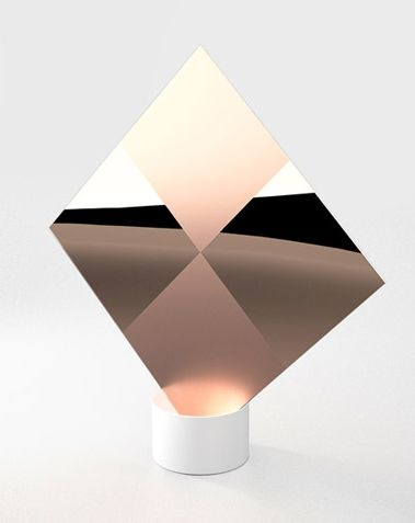 """""""Signs"""" copper table mirror 