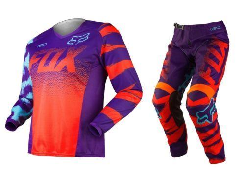 Fox Mx 2015 180 Orange Ladies Girls BMX MTB Motocross Dirt Bike Womens Gear Set in Vehicle Parts & Accessories   eBay