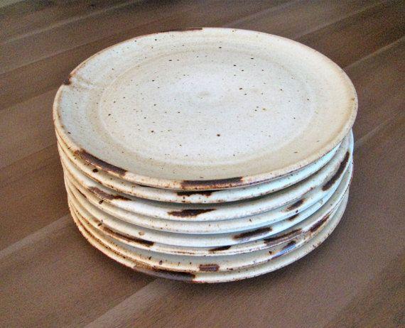 Ceramic Dinner Plate Handmade Plate Farmhouse Pottery Rustic Dinner Plate Off White Matte