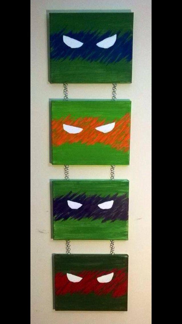 Ninja Turtle wall art.