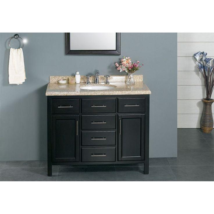 OVE Decors Malibu 42 Inch Bathroom Vanity (Dark Espresso), Brown, Size  Single Vanities
