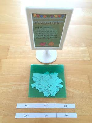materialwiese: Lernwörterübungen in der Grundschule: Puzzlewörter und Computerdiktat...