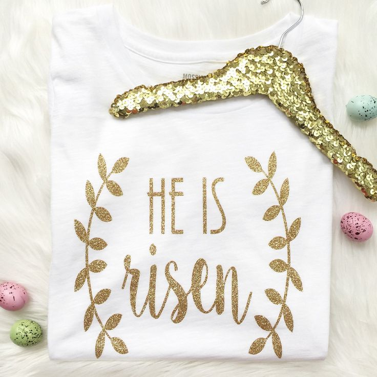 """Womens """"he is risen"""" Easter shirt! The perfect tee for Easter Sunday, or those Easter egg hunts, coming up!"""