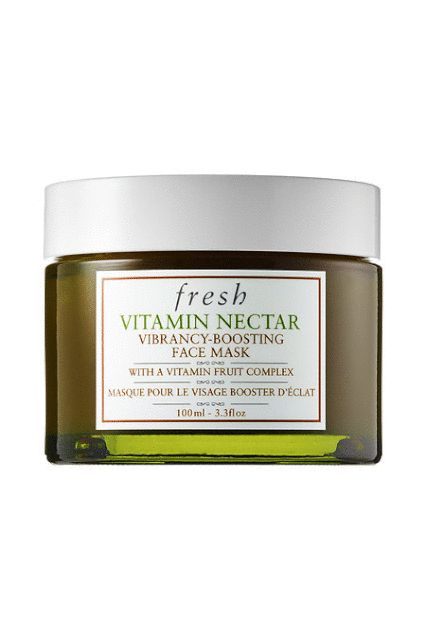 This mask is made with a concentrated blend of citrus and vitamin-rich fruit complexes that help to gently exfoliate the skin, softening and smoothing it while improving overall clarity and texture in the long run. Fresh Vitamin Nectar Vibrancy-Boosting Face Mask, $62, available at Fresh.  #refinery29 http://www.refinery29.com/how-to-get-glowing-skin-best-products#slide-6
