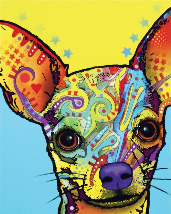Chihuahua 1 Art Poster Print by Dean Russo, 8x10