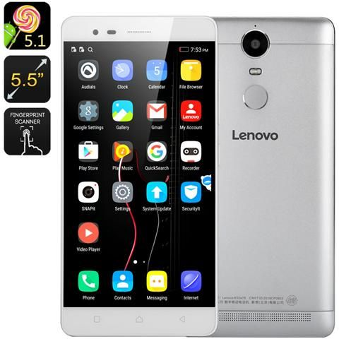 K5 Note Smartphone Display 5.5'' FHD Dolby Atmost Audio Fotocamera 13 Mp Colore Bianco