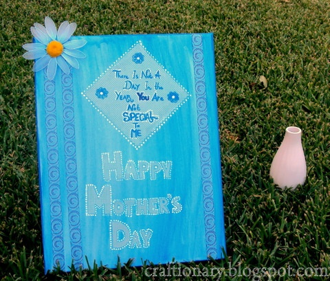 Paint and decoupage a canvas for your Mom on Mother's Day- an everlasting #gift #handmade #mother's day