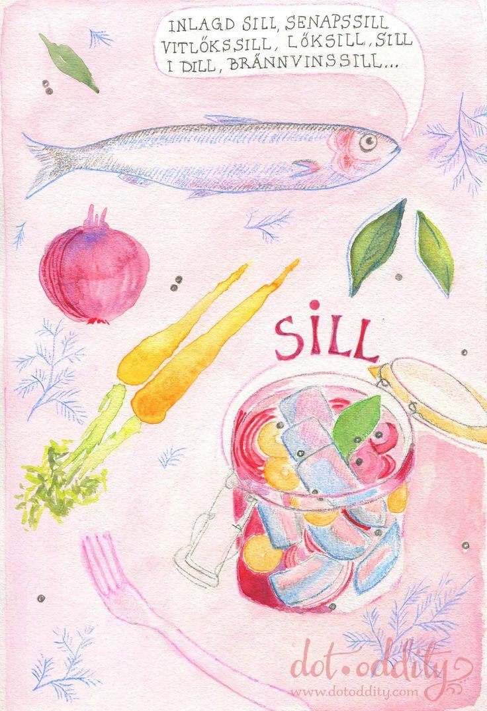 Swedish sill (herring) by Maria Larsson