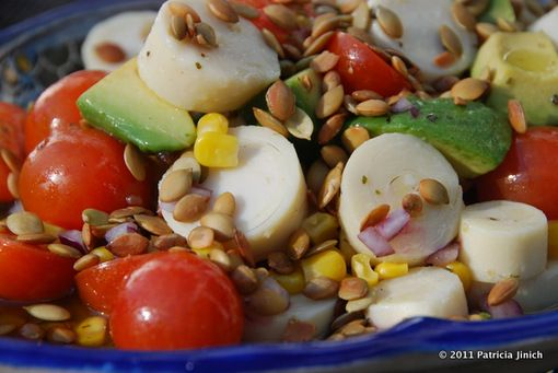 Avocado and Hearts of Palm Chop Chop Salad by patismexicantable #Salad #Avocado_and Hearts_of_Palm #patismexicantable