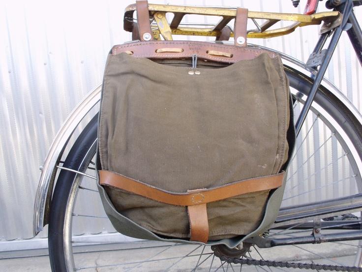 Set Of 2 Vintage Swiss Army Breadbag Panniers Vintage