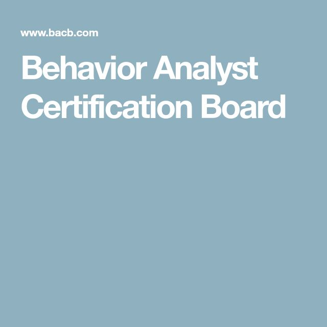 Best Behavior Analyst Ideas On Applied Behavior