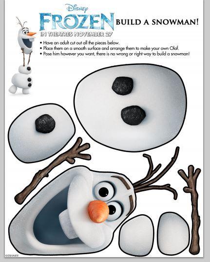 Disney Frozen Build A Snowman Disney's Frozen Fun Tour #DisneyFrozen #Frozen crafts #DisneyCrafts