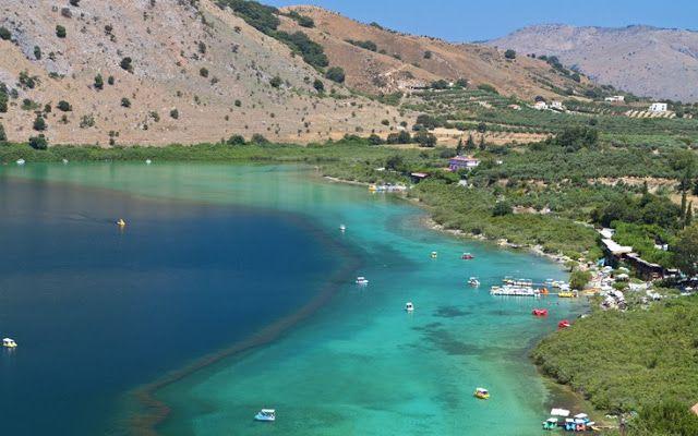 Κουρνά : Η μαγευτική λίμνη της Κρήτης ανάμεσα σε βουνά και ελαιώνες - sfika
