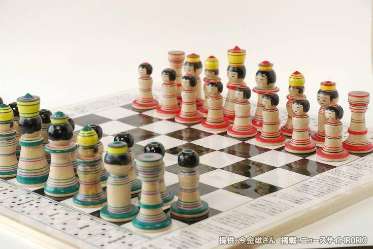 青森の高校生発案!チェス+こけしの「こけス」が可愛い