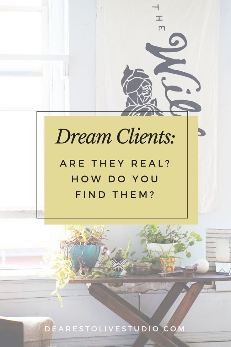 Dream Client Profiles: How to Figure Out Who Your Dream Client Is — Dearest Olive Studio