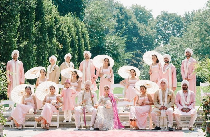 light pink anarkali dresses #bridesmaids   Shaadi Belles : Search, Save, & Share your South Asian Inspiration